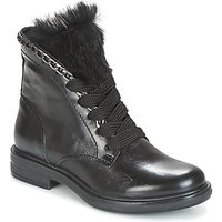 Mjus  CAFE LACE  womens Mid Boots in Black