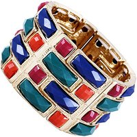Fashionvictime  Bracelet Cuff For Women By  - 9Ct Gold Plated Silver Jewel  womens Bracelet in Multicolour