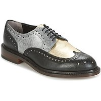 Robert Clergerie  ROELN-GRAFFITI-NOIR-OR-ARGENT  womens Casual Shoes in Black