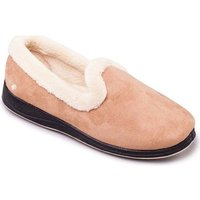 Padders Repose Womens Fully Lined Slippers Slippers In Beige