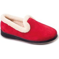 Padders Repose Womens Fully Lined Slippers Slippers In Red