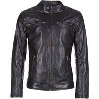 Yurban  IHEXO  men's Leather jacket in Black