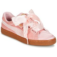 Puma  BASKET HEART VS W'N  women's Shoes (Trainers) in Pink