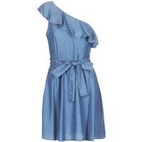 MICHAEL Michael Kors  ONE SHLDR RUFFLE DRS  women's Dress in Blue