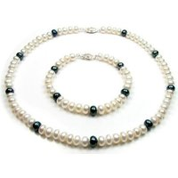 Blue Pearls  BPS 0217 Y  womens Jewellery set in Multicolour