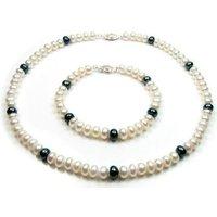 Blue Pearls  BPS 0217 Y  women's Jewellery set in Multicolour