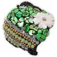 Blue Pearls  NUB 3123 E  women's Bracelet in Green