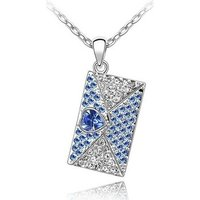 Blue Pearls  CRY A264 G  women's Pendant in Blue