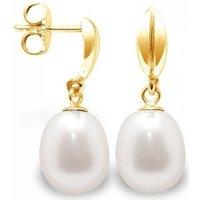 Blue Pearls  BPS K316 W  womens Earrings in Multicolour