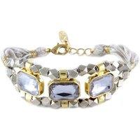 Blue Pearls  ETK 0154  women's Bracelet in Grey