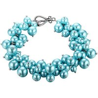Blue Pearls  OCP 0151  women's Bracelet in Multicolour
