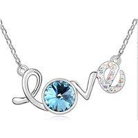 Blue Pearls  PDC B705 W  womens Necklace in Multicolour