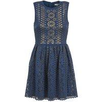 Manoush  NEOPRENE  women's Dress in Blue
