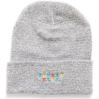 The Idle Man  Embroidered Sunday Club Beanie Grey  men's Beanie in Grey
