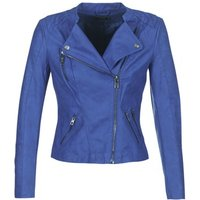 Only Ava Leather Jacket In Blue