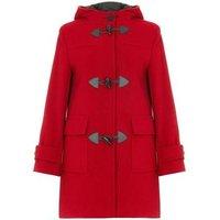 De La Creme  Wool Cashmere Winter Hooded Duffle Coat  womens Coat in Red