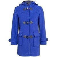 De La Creme  Wool Cashmere Winter Hooded Duffle Coat  womens Coat in Blue