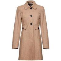 Anastasia  - Orange Womens Wool Winter 60s Coat  womens Coat in Beige