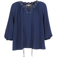 MICHAEL Michael Kors  SCALLP GRMT CHAIN TOP  womens Blouse in Blue