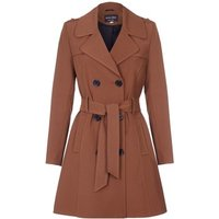 De La Creme  Spring Tie Belted Trench Coat  womens Coat in Brown