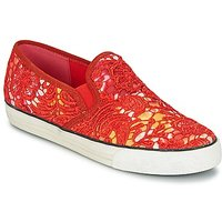 Colors Of California Lace Slip Slip-ons (shoes) In Red
