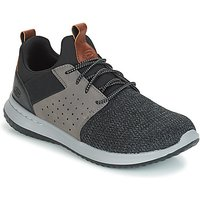 Skechers-DELSON-CAMBEN-mens-Shoes-Trainers-in-Grey