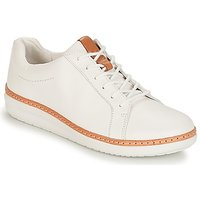 Clarks Amberlee Rosa White Casual Shoes In Beige