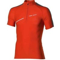 Asics 1/2 Zip Top Fw12 421016-0540 T Shirt In Orange