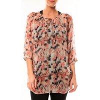 Vero Moda  Katty Lee 3/4 Tunic 10105918 Rose/Noir  womens Tunic dress in Pink