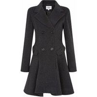 De La Creme  Wool Winter Double Breasted Fit and Flare Winter Coat  womens Coat in Grey