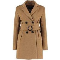 De La Creme  Tweed s Winter Belted Jacket  womens Coat in Beige