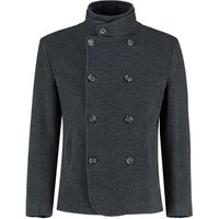 De La Creme  - Mens Black Short Winter Wool Cashmere Jacket  mens Coat in Black