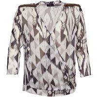 One Step  CREPUSCULE  women's Blouse in Grey