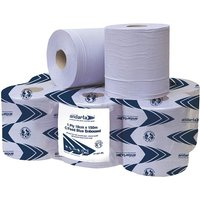 1 ply blue centrefeed paper rolls -pack of 6