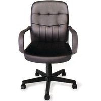 'Executive Leather Office Chair With Tilt, Recline And Armrests