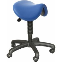 Image of Height Adjustable Saddle Stool, upholstered, seat height 550mm to 740mm
