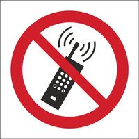 'No Mobile Phone, Symbol Only Sign