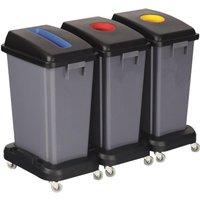 'Recycling Bin Lid - Blue Paper Slot