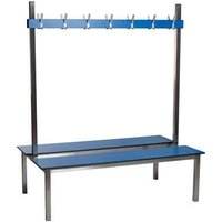 1.5m Double Sided Aqua Duo Changing Room Bench - Laminate Seat
