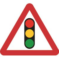 'Zintec 600mm Triangular Traffic Lights Road Sign (no Frame)