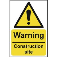 Image of Warning Construction Site Sign