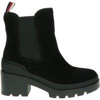 Tommy Hilfiger Sport Sporty Chunky Chelse rits- & gesloten boots zwart
