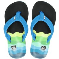 Reef Ahi Wave slippers blauw