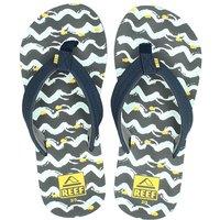 Reef Ahi fish slippers blauw