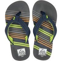 Reef Ahi stripe slippers blauw