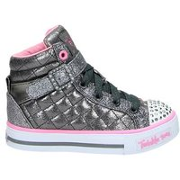 Skechers Twinkle Toes hoge sneakers grijs