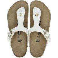 Birkenstock Gizeh Shiny slippers ecru