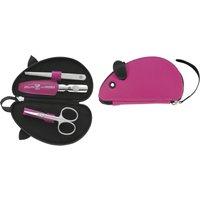 Reißverschluss-Etui, 3-tlg., pink, Maus-Form, ZWILLING® Kinderetuis