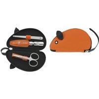 Reißverschluss-Etui, 3-tlg., orange, Maus-Form, ZWILLING® Kinderetuis