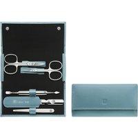 Druckknopf-Etui, Rindleder, Ice Blue, 5-tlg., ZWILLING® Classic Inox Etuis